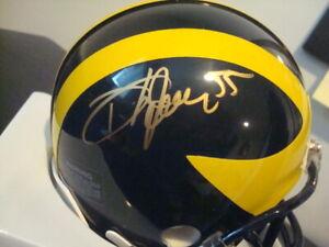 Dhani Jones AUTOGRAPHED MICHIGAN WOLVERINES Mini Helmet SIGNED