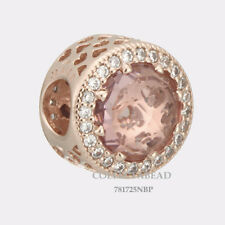 Authentic Pandora Silver Rose Blush Pink Crystal Radiant Hearts Bead 781725NBP