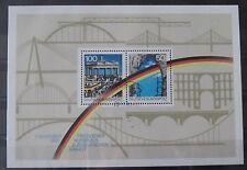 BRD Briefmarken 1990 Block 22 1.Jahrestag der Maueröffnung Gummiert