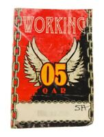 OAR 2005 TOUR CONCERT SATIN BACKSTAGE PASS Red Working Unpeeled