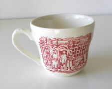 "Vintage Red & White Toile English Transferware Cup ""Coaching Taverns"" Batch #36"