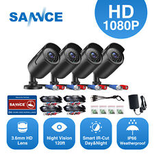 SANNCE 1080P HD Indoor Outdoor IR Night Vision CCTV Home Security Camera System
