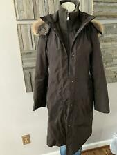 Andrew Marc Long Insulated Jacket with Fur Lined Hood Size XS Brown