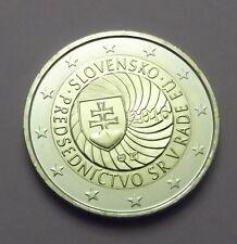 2 Euro commémorative Slovaquie 2016 Présidence de l'UE  UNC