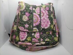 Vera Bradley Crossbody Shoulder Bag Pink Green White Floral