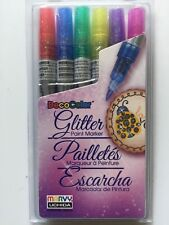 Deco Color™ Glitter Paint Marker Set - 6pc 160-6A NEW