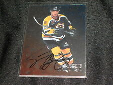 STEVE HEINZE 1998 IN THE GAME CERTIFIED SIGNED AUTOGRAPHED NHL HOCKEY CARD