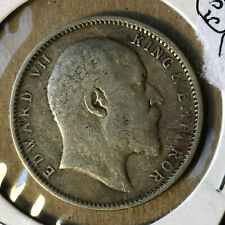 1904 British India 1 Rupee Silver Coin