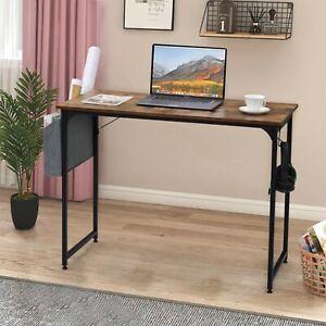 Schreibtisch 100x20x75cm Bürotisch Computertisch Arbeitstisch PC Tisch mit Hake