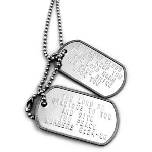 Lord Bless You And Keep You Double Dog Tag  -Numbers 6:24-26 (dnc624t)