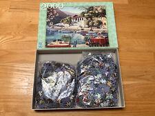 Fx Schmid / Ravensburger 2000 Puzzle Pieces Greek Harbor by Barbara Felisk Used
