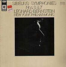 CBS 72686 Sibelius Symphony 3 & 7 Bernstein New York Philharmonic HL5.330