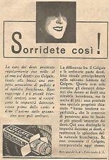 W4207 Dentifricio COLGATE - Sorridete così ! - Pubblicità del 1930 - Vintage ad
