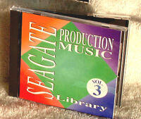 Seagate Royalty-Free Buyout Production Music Library CD (Vol #3), $149 list!