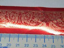 5m bolduc rouge 3.8cm largeur neuf scrapbooking mercerie fleur lot 1