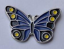 BLUE BUTTERFLY -  ENAMEL PIN BADGE