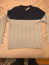 J Crew Rugged Merino Wool Mixed Knit Crewneck Sweater Mens Size Medium NWT