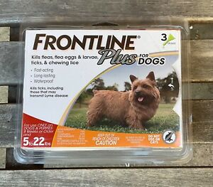 Frontline plus flea and tick treatment medicine for dogs 5 - 22 lbs 3 doses