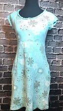 Fresh Produce Trendy Floral Cotton Dress Lds Sz XS Empire Waist ~ Cap Sleeves