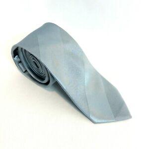 Industrie Inc 100% Silk Silver Neck Tie Mens Designer Brand Formal Business