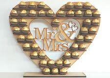 """""""Mr & Mrs"""" Ferrero Rocher Herz Baum Hochzeit Bildschirm Ständer Mittelstück"""
