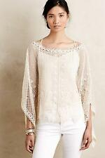 New Anthropologie Scalloped Crochet Poncho Sz XS S Size XS Small NIP by Sparrow
