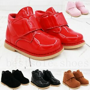 KIDS GIRLS BOYS INFANTS ANKLE CHELSEA BOOTS DEALER BROGUE FLAT WINTER SHOES SIZE