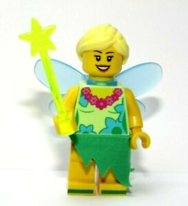 Lego Female Girl Minifigure  Blue Wings Blonde Hair Angel Fairy My Tinkerbell