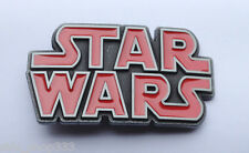 NEW design Original STAR WARS metal logo belt buckle red Pewter color Cosplay