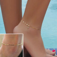 Cute Gold Silver Ankle Bracelet Women Anklet Adjustable Chain Foot Beach Jewelry