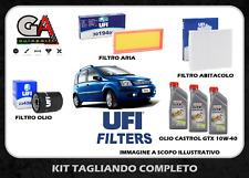 Kit tagliando Fiat Panda 2 169 1.2 benzina filtri UFI + 3l Castrol GTX 10w40