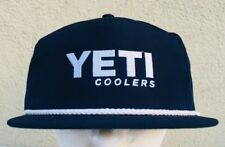 YETI COOLERS NAVY BLUE ADJUSTABLE FISHING OUTDOORS ROPE HAT CAP