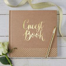 Gästebuch 'Guest Book' kraft / gold - Hochzeit Hochzeitsalbum Hochzeitsgästebuch