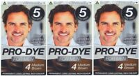 Glamorize Pro-Dye For Men (3 Pack) Men's Hair Dye Colourant - Long Lasting