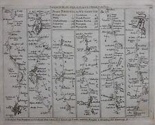Original antique map, BRISTOL, GLOUCESTER, GLASTONBURY, WEYMOUTH, Jefferys, 1775
