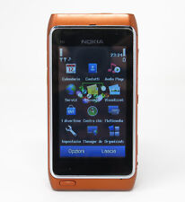Cellulare Nokia N8 arancione fotocamera carl zeiss 12 megapixel 3G touchscreen