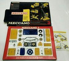 VINTAGE BOXED 1970s MECCANO 3 SET