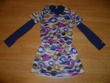 Genuine Girls Designer CATIMINI Abstract Print Dress Navy Stretch Top  9-10 Yrs