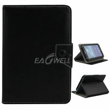 "Black For 7"" 8"" 10.1""inch Tablets Universal Folding Leather Case Stand Cover"