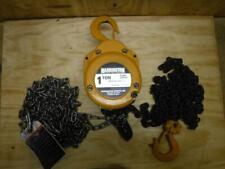 New Harrington Cf010 15 1 Ton 15 Ft Lift Manual Chain Hoist Fast Ship 2000 Lb