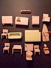 13 Pieces Vintage 1940's Plastic Dollhouse furniture - Marx