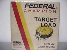 Shot Shell Box  Empty  FEDERAL TARGET LOAD  12 gauge  Very Good ,condition