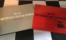 1989 1990 Mitsubishi Motor Sports Libro Tapa Dura Slipcased Dakar Galant VR4 Pajer