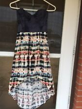 GB TIE DYED SLEEVELESS CUT OUT SHORT IN FRONT LONG IN BACK  DRESS USA SIZE M
