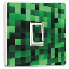 Green pixel art pattern light switch cover  (13691569) 3d