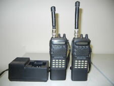 Two - Kenwood TH-22AT 2-Meter FM Ham Radio Hand-Held VHF Transceivers w/Acc'ys