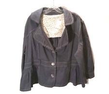 Cato Women's Button Up Blazer Jacket 3 Three Button Gray Plus Size 22W-24W NWT