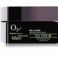 O3+ Equisite Men Tea Tree Meladerm Whitening 24 Hr Cream, 50ml Free Shipping