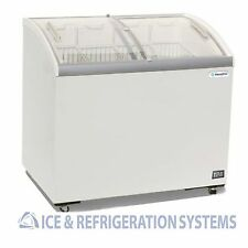 "Metalfrio 41"" Commercial Curved Top Glass Novelty Ice Cream Freezer Chest Msc41"