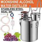 5Gal Moonshine Still Stainless Steel Water Wine Alcohol Distiller Equipment 3Pot